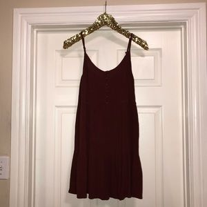 Burgundy/Maroon boho dress